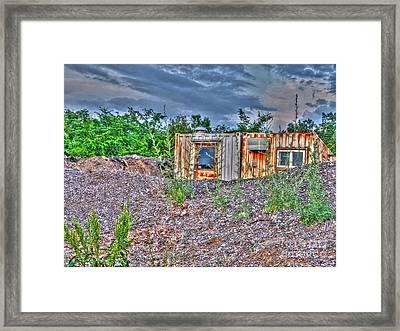 Yard Office Shack Framed Print by MJ Olsen