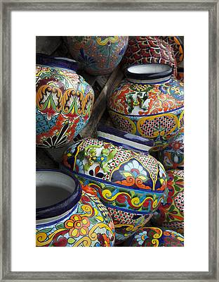 Yard Pots Framed Print by Greg Kopriva