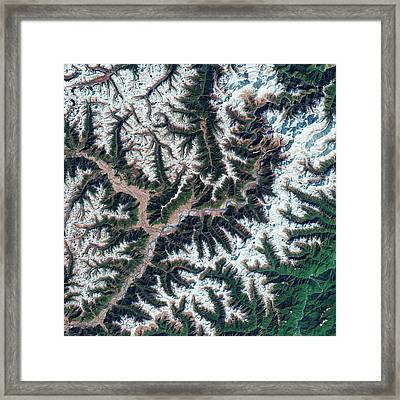 Yarlung Tsangpo Canyon Framed Print by Us Geological Survey