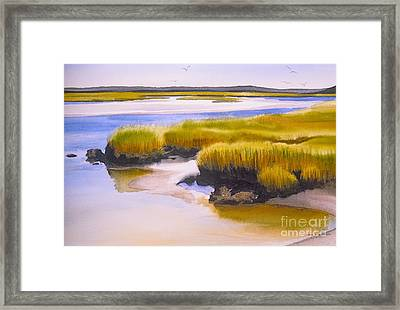 Framed Print featuring the painting Yarmouthport Marsh by Karol Wyckoff