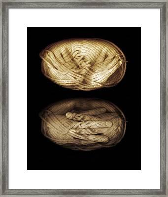 Yarn Hands Framed Print by Johan Lilja