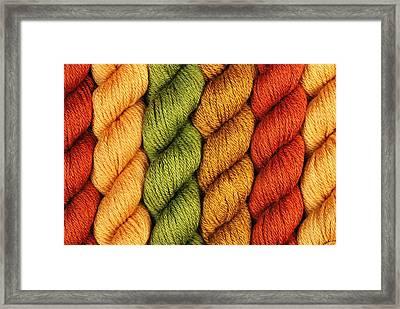Yarn With A Twist Framed Print by Jim Hughes