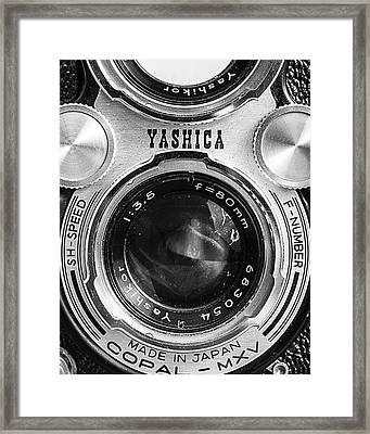 Yashica 635 - Front Detail Framed Print by Jon Woodhams
