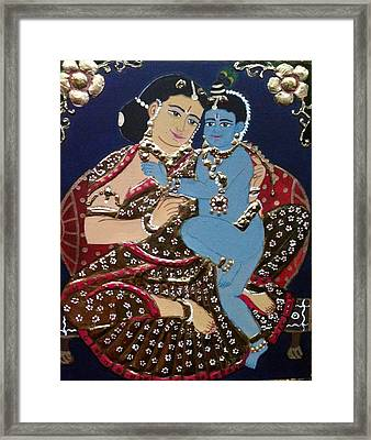 Yashodhakrishna Framed Print