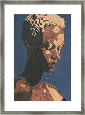 Framed Print featuring the painting Yasmin Warsame by Rachel Natalie Rawlins