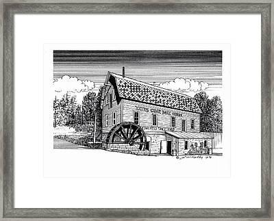 Yates Cider Mill Framed Print by J W Kelly