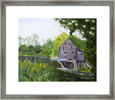 Yates Mill Summer Framed Print by Kevin Croitz