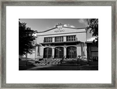 Yauco Farmers Market B W Framed Print