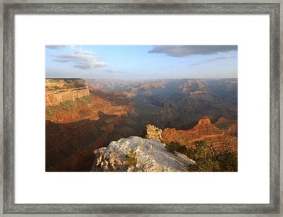 Yavapai Point Morning Framed Print by Stephen  Vecchiotti