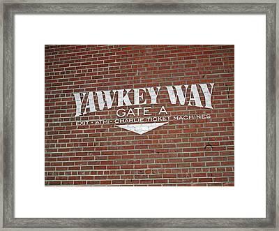 Yawkey Way Framed Print