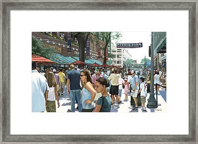 Yawkey Way Framed Print by Linda Tenukas