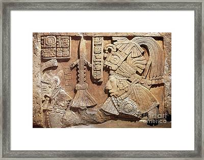 Yaxun Balam Iv, Mayan King, 755 Ad Framed Print by Science Source