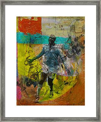 Yaya Toure - B Framed Print by Corporate Art Task Force