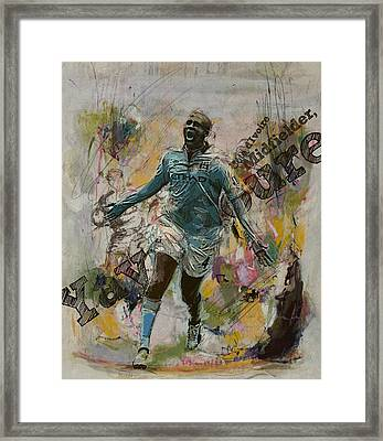 Yaya Toure Framed Print by Corporate Art Task Force