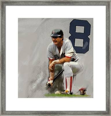 Yaz  Carl Yastrzemski Framed Print by Iconic Images Art Gallery David Pucciarelli