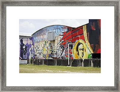Ybor Mural Framed Print by Laurie Perry