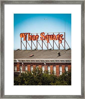 Ybor Square Framed Print by Ybor Photography