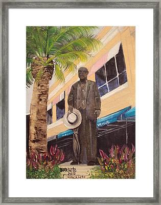 Ybor Statue 2010 Framed Print