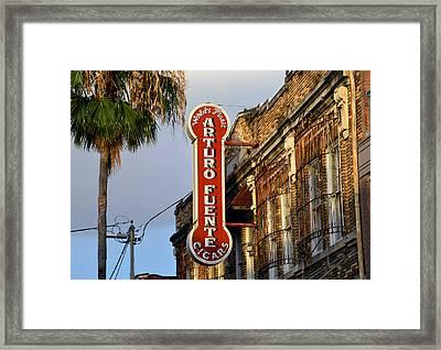 Ybor City Cigar Sign Color Work One Framed Print by David Lee Thompson