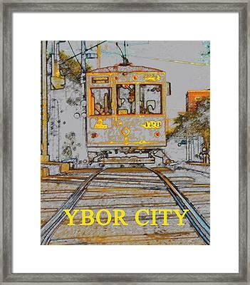 Ybor Trolley Framed Print