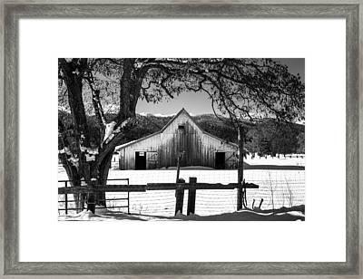Ye Old Barn Framed Print by Randy Wood