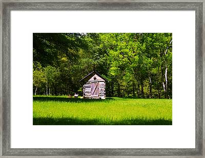 Framed Print featuring the photograph Ye Old Cabin by Andy Lawless