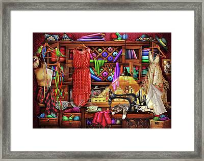 Framed Print featuring the drawing Ye Olde Craft Room by Ciro Marchetti