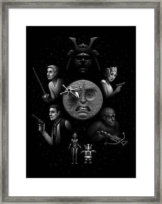 Ye Olde Space Movie Framed Print