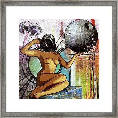 Yeah I Think I'll Just Join The Dark Side Framed Print by Bobby Zeik