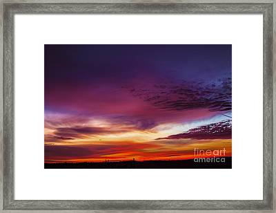 Year End Sunrise Framed Print