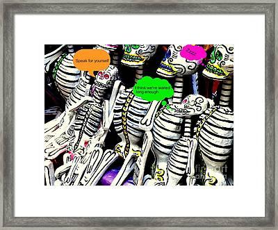 Year Of The Dead Framed Print by Joe Jake Pratt