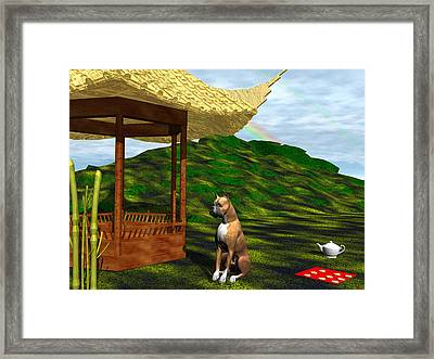 Year Of The Dog Framed Print by Michele Wilson