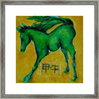 Year Of The Green Horse Framed Print