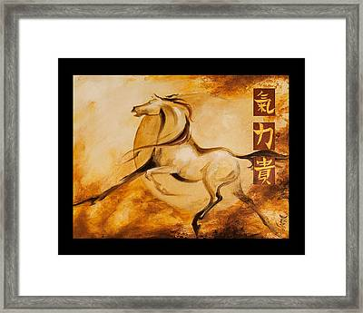 Year Of The Horse 1 Print Framed Print by Dina Dargo