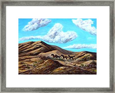 Year Of The Horse Framed Print by Caroline Owen-Doar
