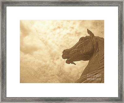 Year Of The Horse Framed Print by Kristine Nora