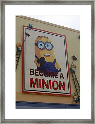 Year Of The Minions Framed Print by David Nicholls