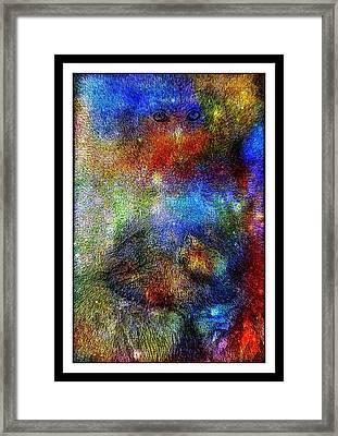 Year Of The Monkey Framed Print by Wendie Busig-Kohn