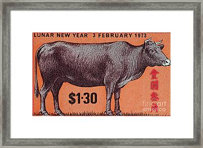 Chinese Year Of The Ox Framed Print