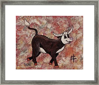 Year Of The Ox Framed Print by Darice Machel McGuire