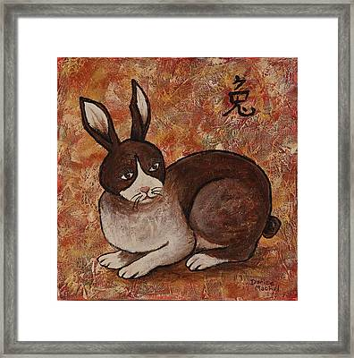 Year Of The Rabbit Framed Print by Darice Machel McGuire
