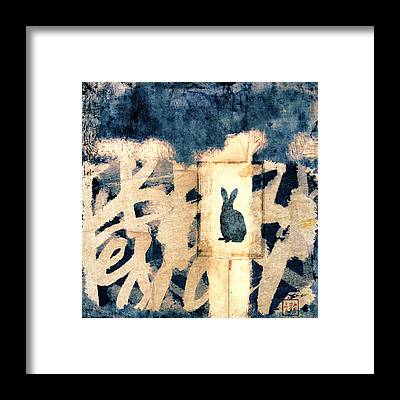 Chinese New Year Rabbit Framed Prints