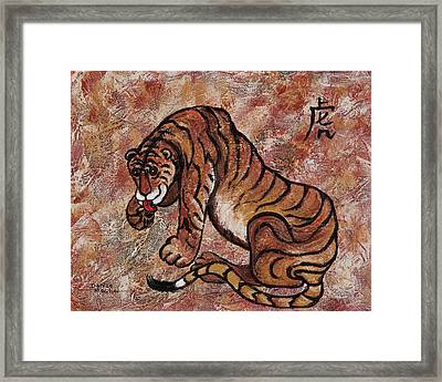Year Of The Tiger Framed Print by Darice Machel McGuire