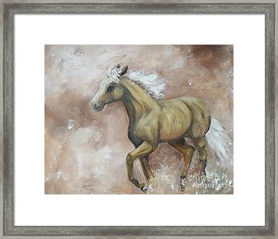 Yearling In Storm Framed Print by Isabella F Abbie Shores FRSA