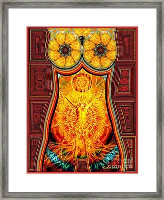 Yearning-spirit Rising Framed Print by Joseph J Stevens