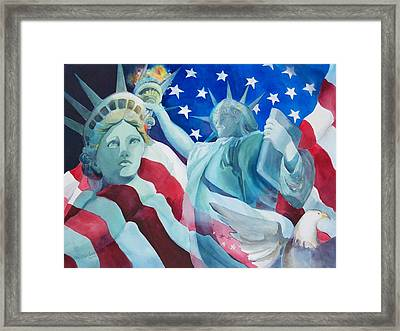 Yearning To Be Free Framed Print by Sue Kemp