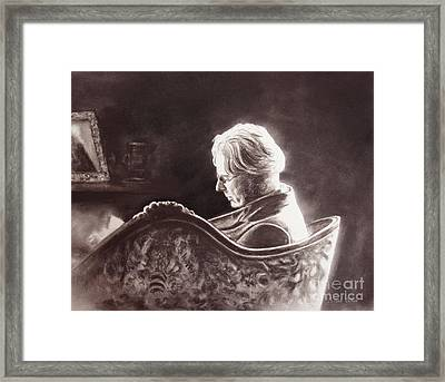 Yeats At The Fire Framed Print