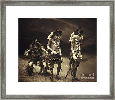 Yebichai Sweat, Navajo Medicine Framed Print by Wellcome Images