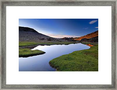 Yeguas Lake At Sunset Framed Print by Guido Montanes Castillo