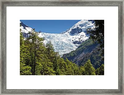 Yelcho Chico Glacier Framed Print by Philippe Psaila